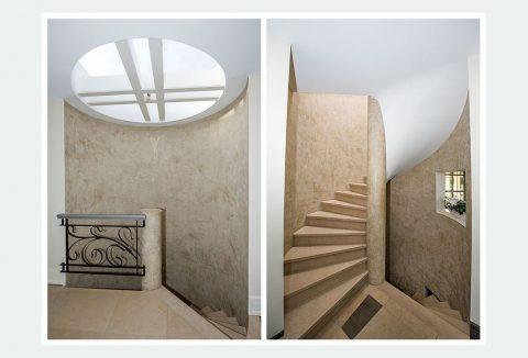 ronde trap met ronddakraam