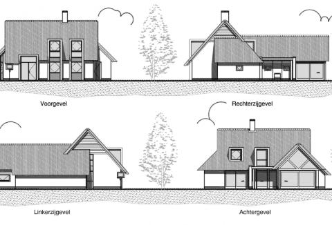 gevels moderne villa ontwerp